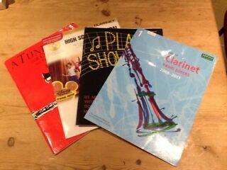 4 beginners clarinet music books
