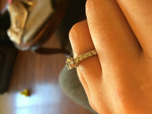 Beautiful 1 ct White Gold Diamond Ring Williams Lake Cariboo Area image 3