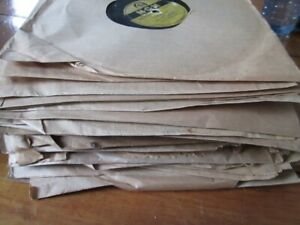 Old records, 78s, 45 of them