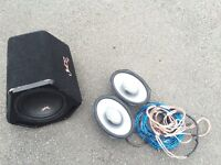 Car stereo speakers and subwoofer