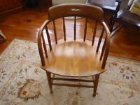 4 Mid Century captains chairs SBent&Bros, Gardner, Mass.