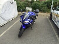 ELECTRIC BLUE YAMAHA YZF R125 WITH FULL AKRAPOLVIC EXHAUST SYSTEM!