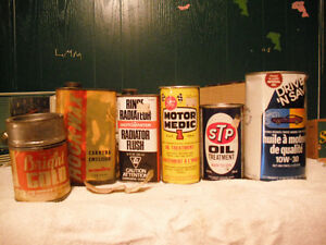 OLD OIL CAN,AND other cans(UNOPENED)
