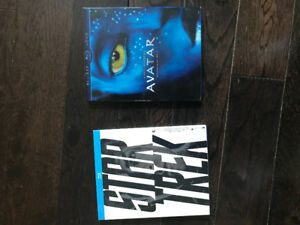 Avatar and Star Trek Blu-ray movies
