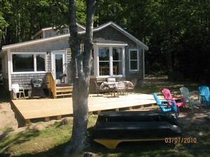 Lake front cottage for rent WITH A SANDY BEACH