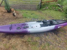 Kayak for river sea and lake