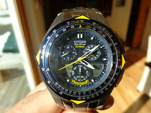Citizen Titanium Eco-Drive Blue Angels Chronograph for Sale