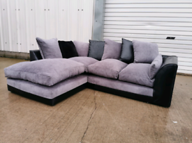 Black and grey corner sofa couch suite 🚚