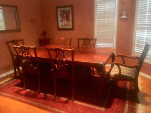 Chippendale dining room set