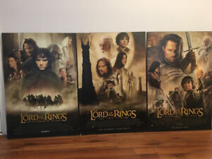 Lord or the Rings Poster set