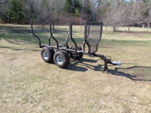 Log Trailer for ATV or Compact Tractor