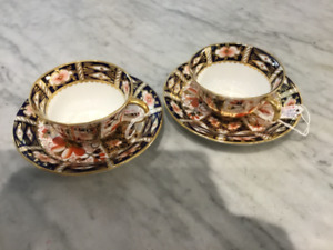 Royal Crown Derby Imari teacups