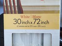 faux wood blinds - already cut
