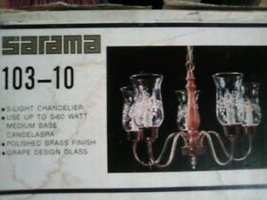 Vintage 5 light Chandelier