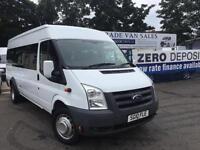 Ford Transit 2.4TDCi Duratorq 100PS 430EL MINIBUS 17 SEATS NO VAT