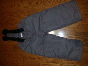 Like New 3T Girls Grey and Pink Snowpants