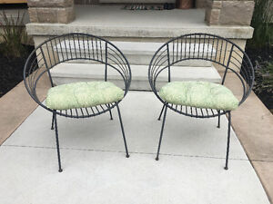 Bistro chairs and cushions