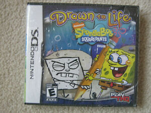 Brand New Sponge Bob Drawn to Life DS Game