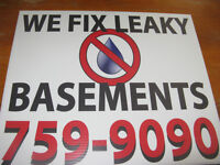 LEAK PRO WATERPROOFING ......WE FIX DAMP, WET, LEAKY BASEMENTS