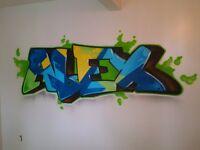 Artiste peintre, Graffiti, Murale, toiles