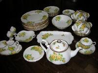 Royal Albert Yellow Tea Rose China Set