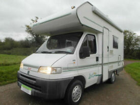 Swift Suntor 520 - 4 Berth - Back Box - Overcab Bed