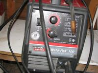 Lincoln Weld Pack 100 Wire feed Welder with attachment for gas