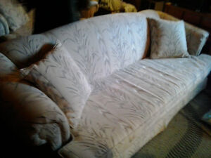 couch,loveseat and 2 endtables.coffee table and behind sofa tabl