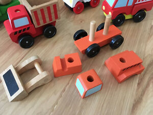 Melissa and Doug stacking construction and emergency vehicles Kitchener / Waterloo Kitchener Area image 2