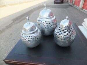 FOR SALE Silver Urns from India (3). $50