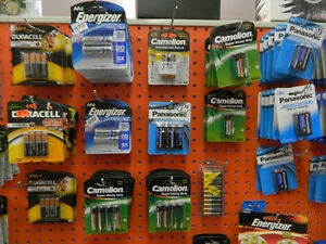 Batteries - Many Sizes and Styles, AAA, AA, Rechargable..