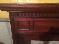 Antique solid wood mantle for sale!