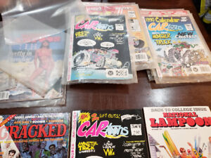 I have National Lampoon magazines for sale cartoon cracked mad..
