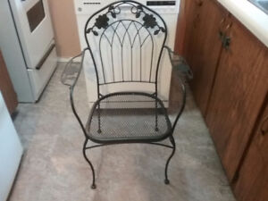 4 black wrought iron chairs  $20 for set