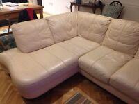 DFS L Shaped Leather Sofa