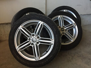 Summer Audi A4 rims and tires