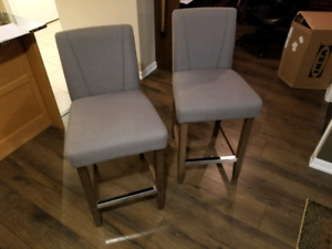 Counter-height dining chairs (pair)