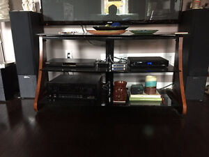Glass and Wood TV Stand/Entertainment Unit for Sale