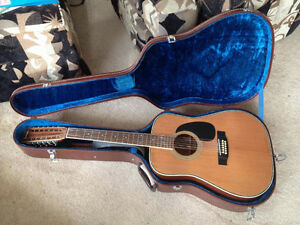 12 String Yamaki Acoustic Guitar with hard case