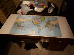 World map table.