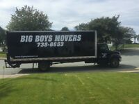 BIG BOYS MOVERS...Your Professional Movers.. 738-6653