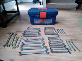 Spanners x 40 (sold pending collection)