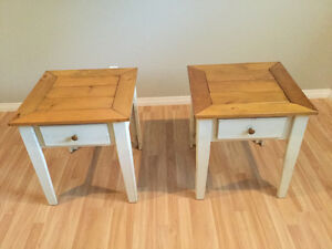 End tables -distressed wood