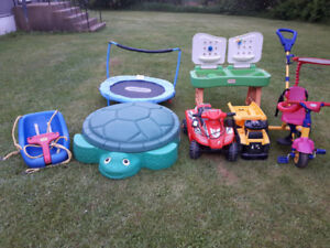 Kids strollers and toys