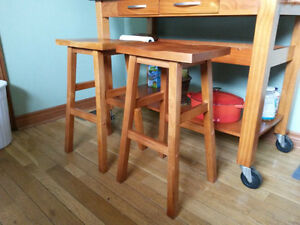Two Wooden Stools  $20 each