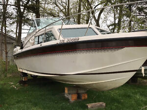 1988 Chris craft 26' Cabin Cruiser TRADE FOR **TRAVEL TRAILER**