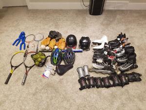 New Skates, Roller Blades, Baseball Tennis Hockey Equipment