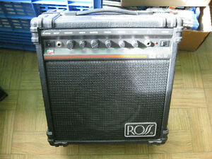 3- guitar amps-line 6---ross and a crate