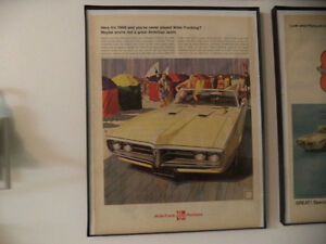 OLD FIREBIRD CLASSIC CAR FRAMED AD Windsor Region Ontario image 3