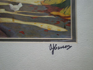 """Full Signature  A.J.Casson """"Country Road"""" Print Kitchener / Waterloo Kitchener Area image 4"""